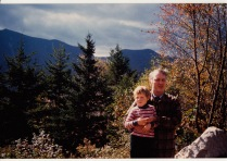 Matt and Dad in the woods